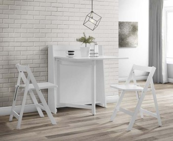 Madagascar White Fold Up Breakfast Table Set