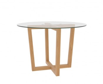 Zaragoza Glass and Oak Kitchen Table