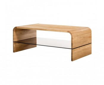 Soro Oak and Glass Coffee Table