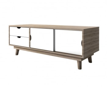 Scandi Oak Two Door Two Drawer TV Stand