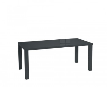 Puro Charcoal High Gloss Large Dining Table