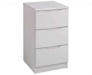 Safara 3 Drawer Cashmere High Gloss Bedside Chest *Special Offer*
