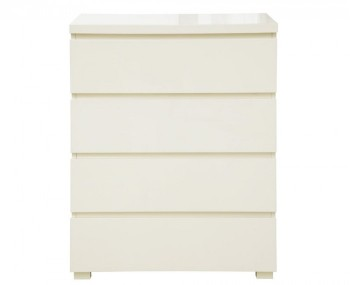 Puro Cream High Gloss 4 Drawer Chest *Special Offer*