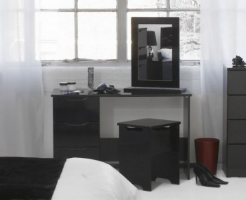 Vogue Black High Gloss Dressing Table *Special Offer*