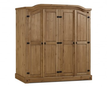 Desperados 4 Door Pine Wardrobe