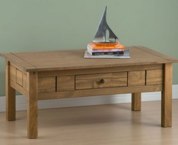 Calama Rustic Pine Coffee Table