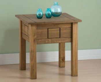 Calama Rustic Pine Lamp Table