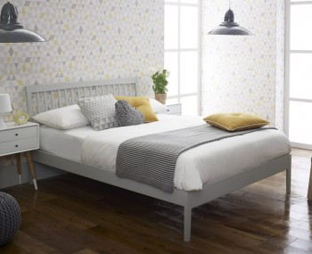 Ananke Grey Wooden Bed Frame