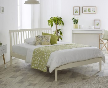 Ananke Buttermilk Wooden Bed Frame
