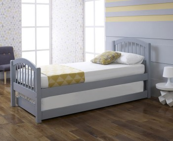 Diane Grey Wooden Guest Bed