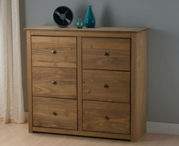 Calama Rustic Pine 6 Drawer Chest