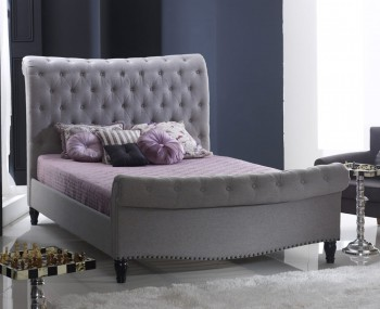 Lainey Grey Marl Upholstered Bed Frame
