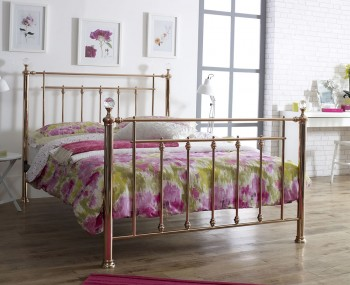 Libra Crystal and Rose Gold Bed Frame