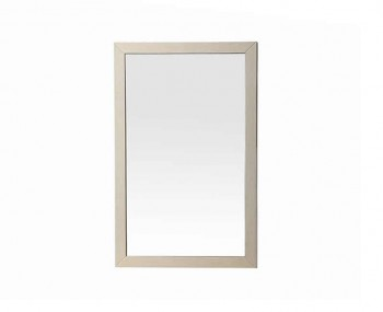 Lucia Soft Cream Walnut Mirror