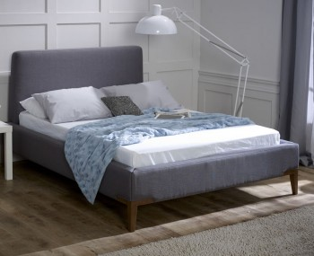 Athena Slate Grey Upholstered Bed Frame