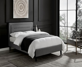 Picasso Grey Marl Upholstered Bed Frame