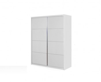 Patterson White High Gloss Sliding Wardrobe