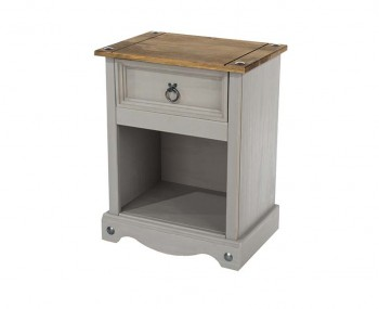Estrella Grey 1 Drawer Nightstand