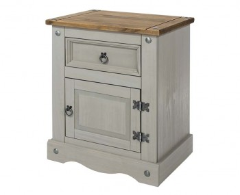 Estrella Grey 1 Drawer 1 Door Bedside Cabinet