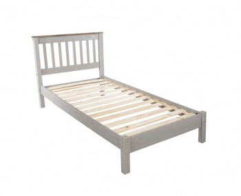 Estrella Grey Slatted Bed