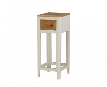 Dunmore Spanish White and Oak Small Console Table