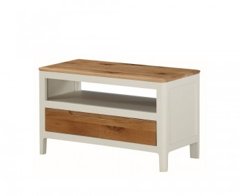 Dunmore Spanish White and Oak Small TV Unit