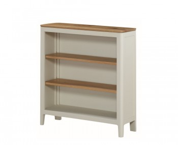 Dunmore Spanish White and Oak Low Bookcase