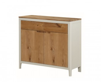 Dunmore Spanish White and Oak 2 Door Sideboard