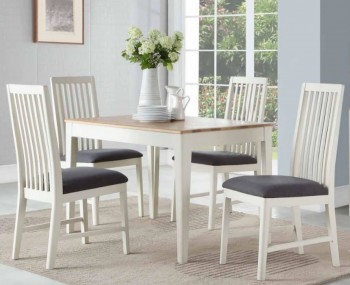 Dunmore Spanish White and Oak Dining Set