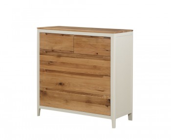 Dunmore Spanish White and Oak 2+3 Drawer Chest