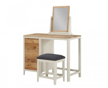 Dunmore Single Spanish White and Oak Dressing Table