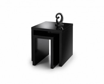 Vernonia Black High Gloss Nest of Tables
