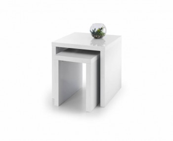 Vernonia White High Gloss Nest of Tables