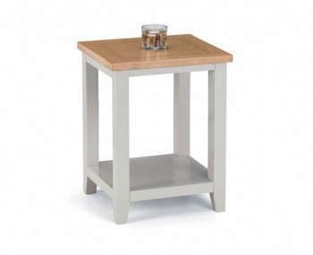 Vineyard Grey Two-Tone Lamp Table