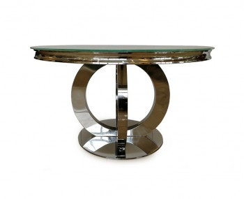 Orion Glass Round Dining Table