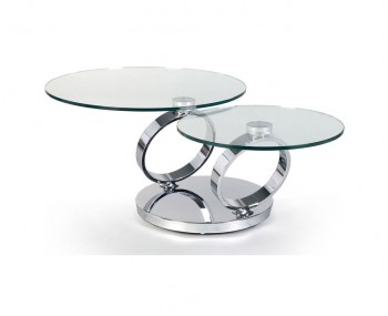 Astral Glass Swivel Coffee Table