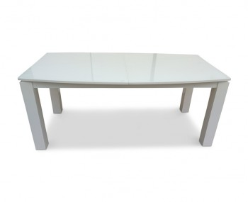 Kano White Glass Extending Dining Table