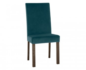 Parker Dark Oak and Sea Green Velvet Upholstered Dining Chair