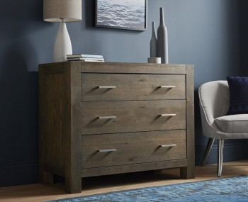 Ventura Dark Oak 3 Drawer Wide Chest