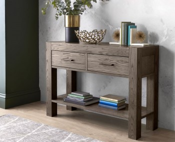 Ventura Dark Oak Console Table with Drawers