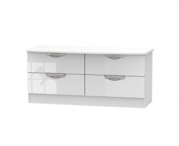 Halifax White High Gloss 4 Drawer Bed Box