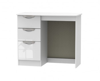 Halifax White High Gloss Single Dressing Table