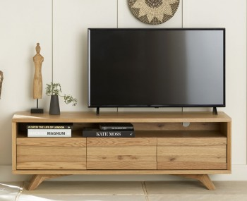 Cadell Rustic Oak Entertainment Unit