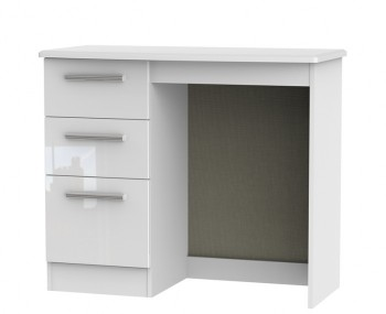 Queen 3 Drawer White High Gloss Dressing Table *Special Offer*