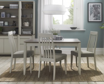 Bergen Extending Oak & Soft Grey Two-Tone Dining Table