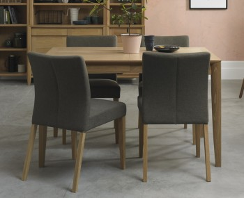 Bergen Extending Oak Dining Set