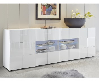 Dama 2 Door 4 Drawer White High Gloss Sideboard