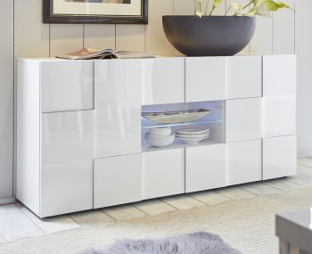Dama 2 Door 2 Drawer High Gloss Sideboard