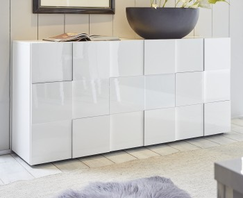 Dama 3 Door High Gloss Sideboard