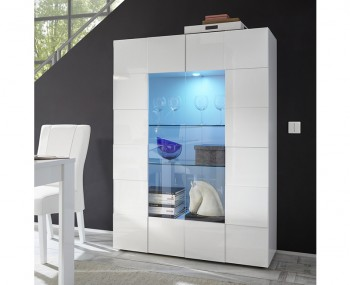 Dama High Gloss Glass Cabinet